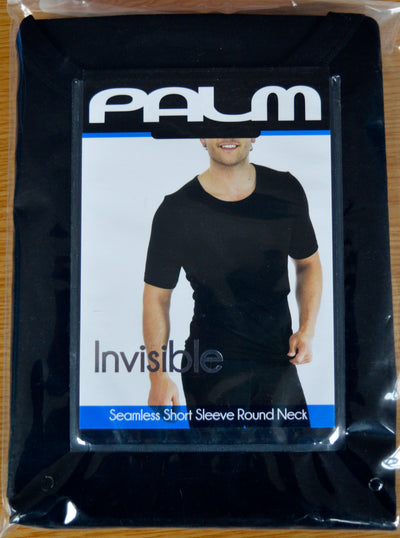 Palm Mens Invisible Seamless Short Sleeve Round Neck Thermal Top Base Layer