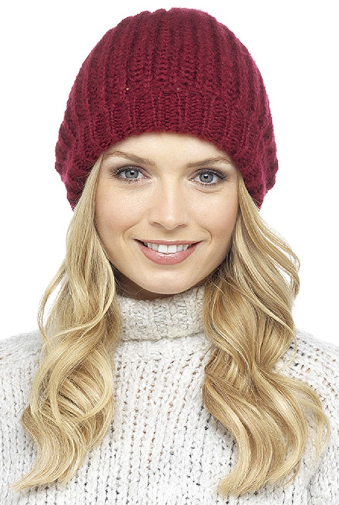 Red Ladies Knitted Hat
