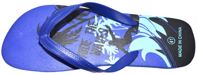 OCTAVE Mens Surfing Design Flip Flops - Blue
