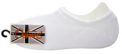 OCTAVE Unisex Plain Invisible Trainer Liner Socks - Various Pack Sizes Available [Size One Size (Approx) UK 4-11 EURO 37-46, Colour White] - [INTERNAL REF: 42713-02 4 Packs No. 1803 White Socks]