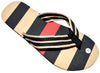 OCTAVE Mens Striped Comfort Strap Design Flip Flops - Black