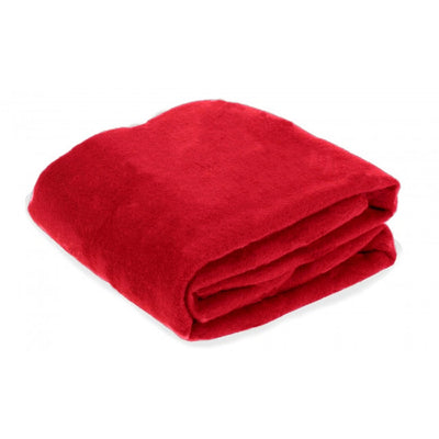 Red travel blanket