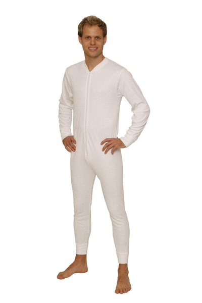 Thermal Underwear All-In-One Union Suit white