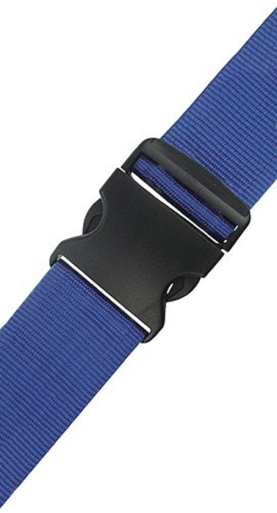 Blue holiday luggage strap