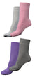 Pack of 4 : OCTAVE Ladies Thermal Slipper Socks With Non Skid Grip Soles