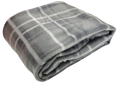 Grey Tartan travel blanket