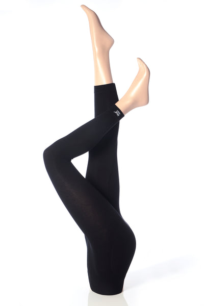 Ladies Heat Holders Thermal Leggings Black
