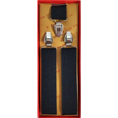 Vintage Mens Trouser Braces - Suspenders Strong Heavy Duty with Adjustable Y Shaped Clips