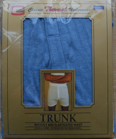 Thermal Underwear Trunks blue pack