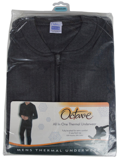 OCTAVE Mens Thermal Underwear All In One Union Suit grey