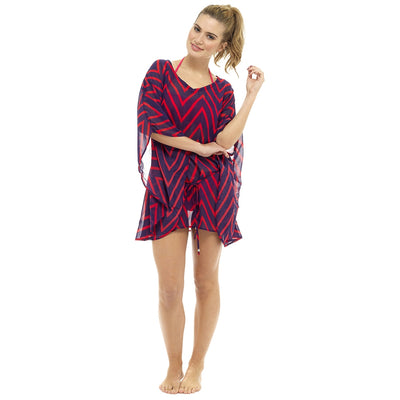 Beach cover up red