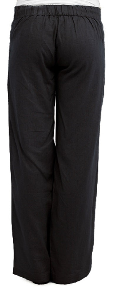 OCTAVE Ladies Linen Trousers -  Black (Back)