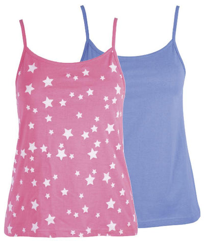 OCTAVE Ladies Twin Pack Lounge Vest Ideal Lougewear Nightwear Gymwear Beachwear