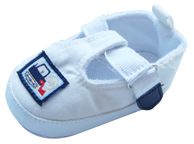 MABINI Baby Boys T-Bar Shoes White