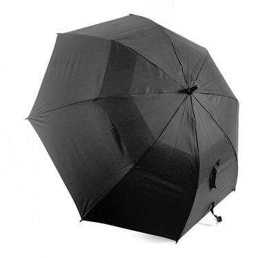 OCTAVE Unisex Wind Resistant Double Canopy Black Golf / Walking Umbrella