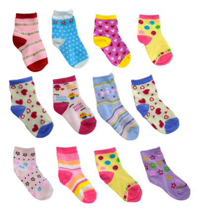 OCTAVE Girls Kids Children Toddlers Ankle Socks In Cute Funky Designs