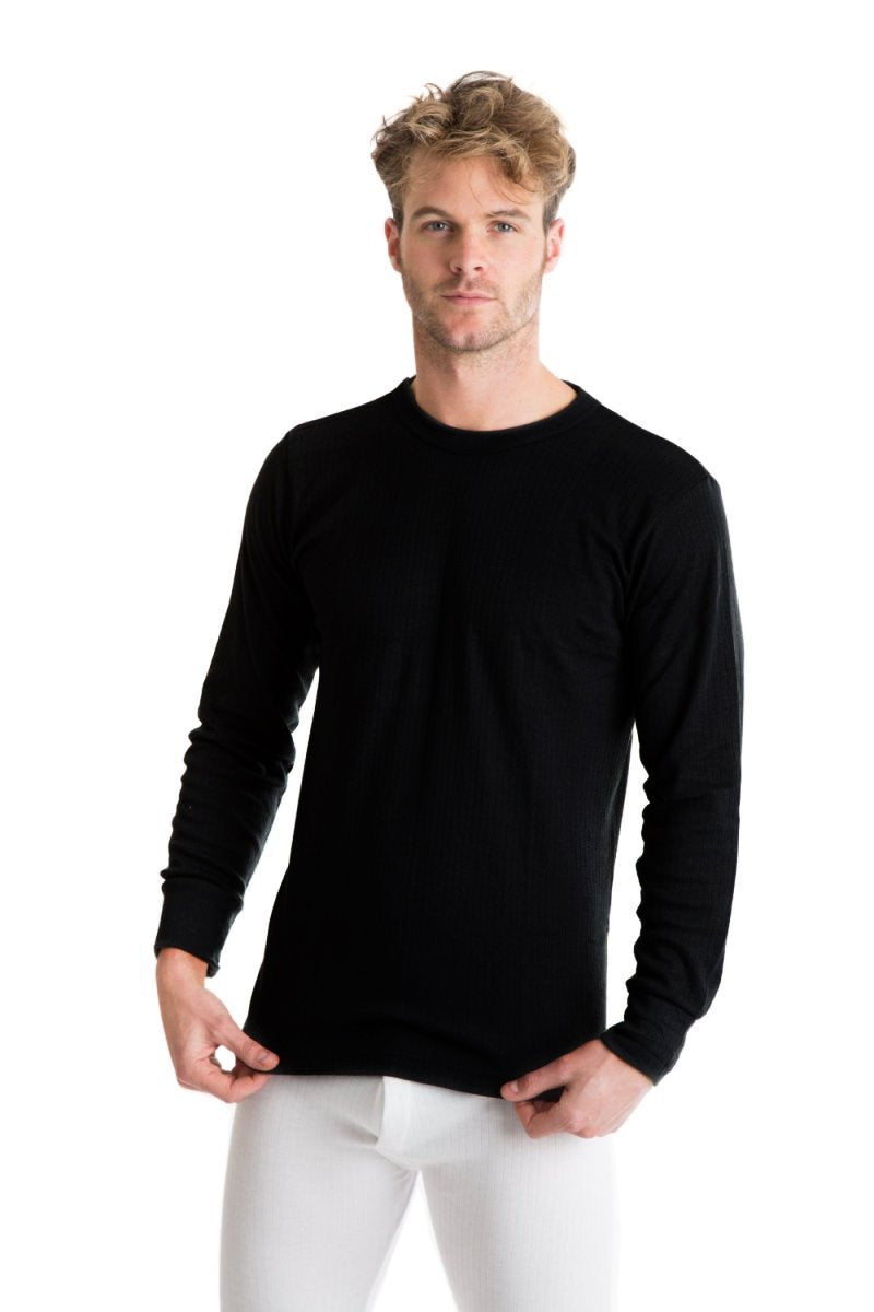 OCTAVE Mens Thermal Underwear Long Sleeve Top (British Made Viscose Extra Warm)