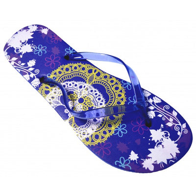 OCTAVE® Ladies Summer Beach Wear Flip Flops - Lace Design