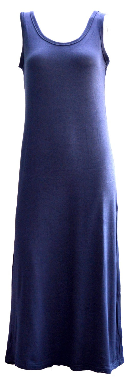 Navy ladies maxi dress