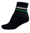 RP Collections Black Striped Kids Sports Socks - Pack of 3
