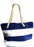 OCTAVE Summer Beach Tote Handbag Striped Design - Blue & White
