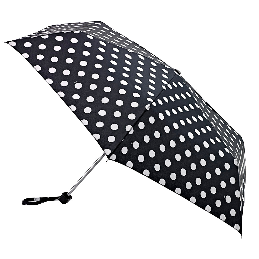 Fulton Miniflat Ladies Compact Flat Umbrella - Big Spots