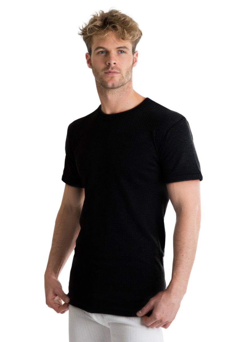 OCTAVE Mens Thermal Underwear Short Sleeve (British Made Viscose Extra Warm)