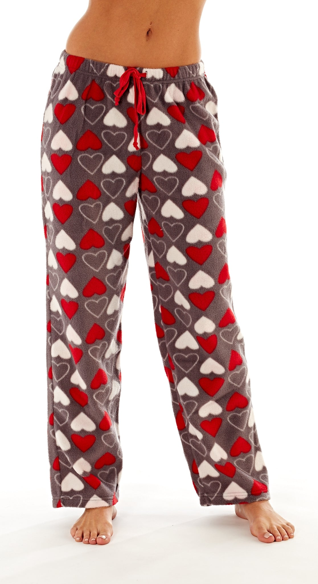 Octave Ladies Loungewear Pants Pyjama Bottoms - Hearts