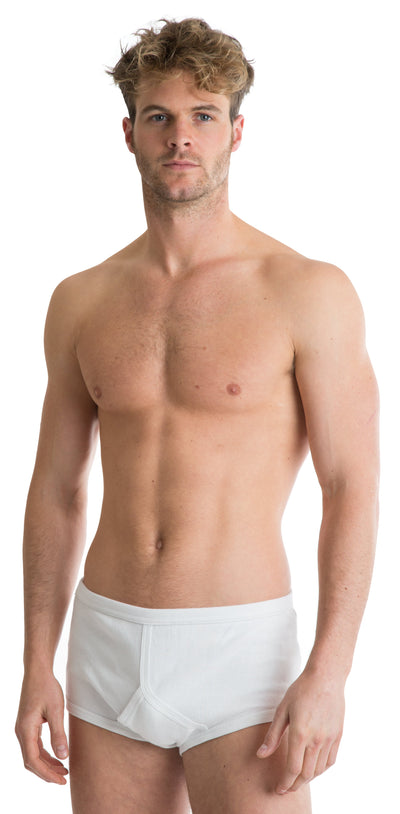 OCTAVE 2 Pack Mens Soft 100% Combed Cotton Classic Y Style Full Briefs