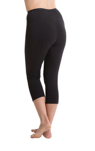 Passionelle Ladies Black Cropped Length Luxury Leggings