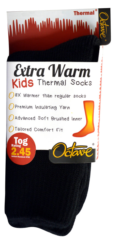 OCTAVE® Kids Extra Warm Thermal Socks - 2.45 TOG - 1 Pair