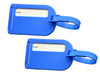 Blue travel luggage tags