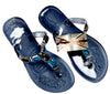 OCTAVE Ladies Summer Beach Wear Flip Flops Collection - Jewel Embellished Jelly Sandals