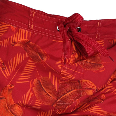Red Safari Beach Board Swim Shorts