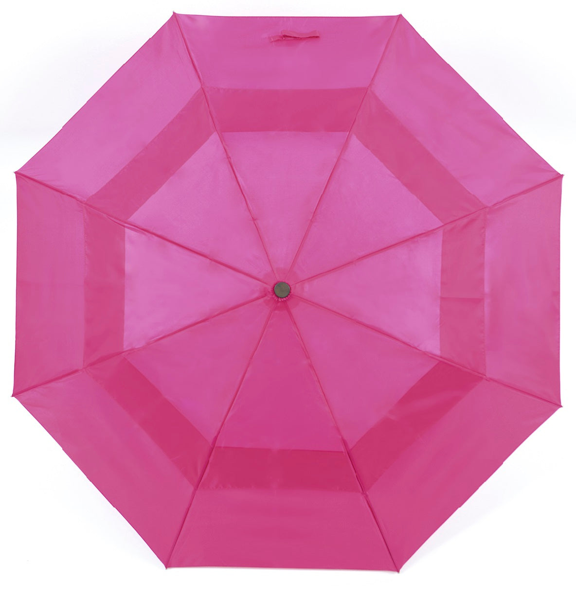OCTAVE Ladies Wind Resistant Double Canopy Pink Folding Umbrella