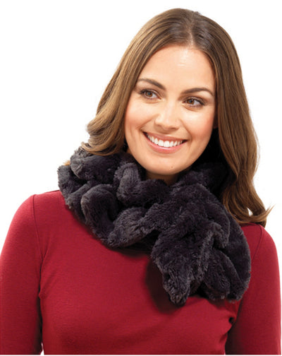 OCTAVE® Ladies Faux Fur Fluffy Stole Scarf Snood - Perfect For Winter