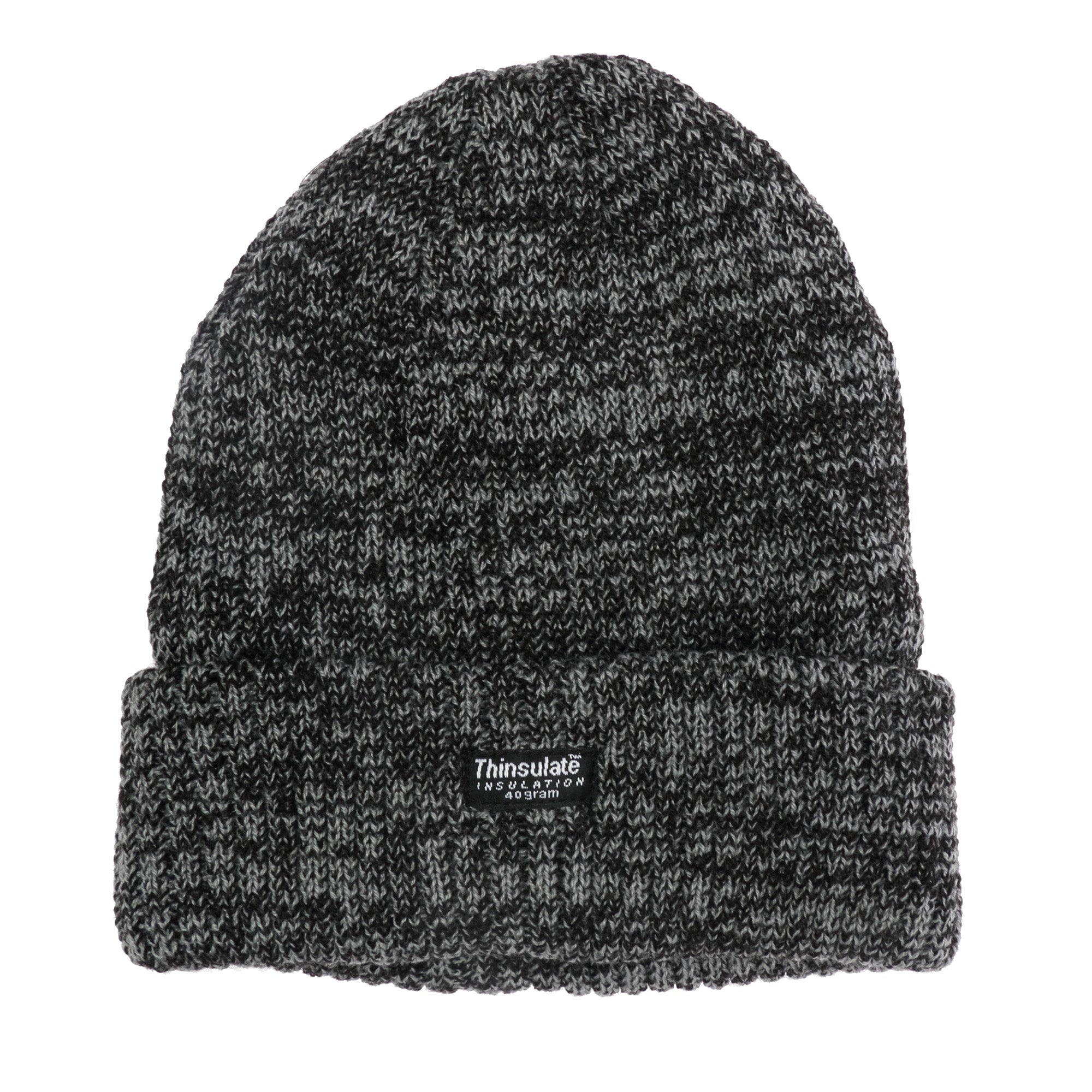 OCTAVE Mens Melange Warm Thinsulate Thermal Lined Heavy Knit Winter Hat