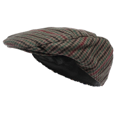 OCTAVE® Mens Wool Mix Tweed Country Style Flat Cap
