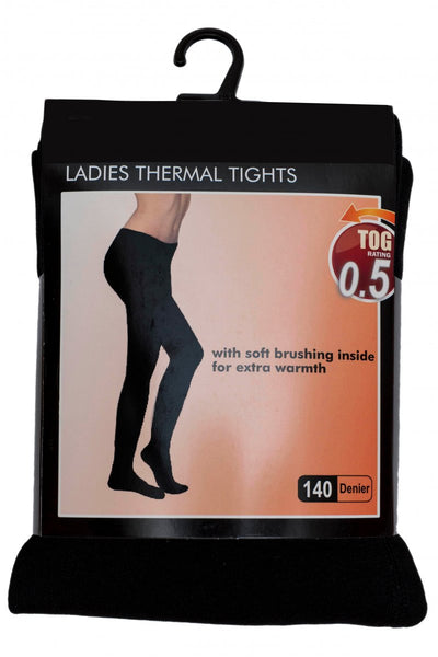 OCTAVE Ladies Black Thermal Tights
