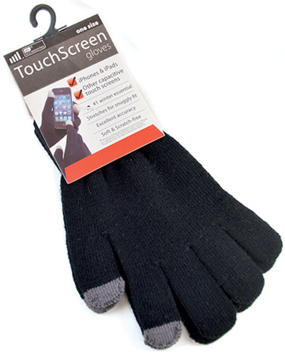 OCTAVE Ladies Black Touch Screen Gloves