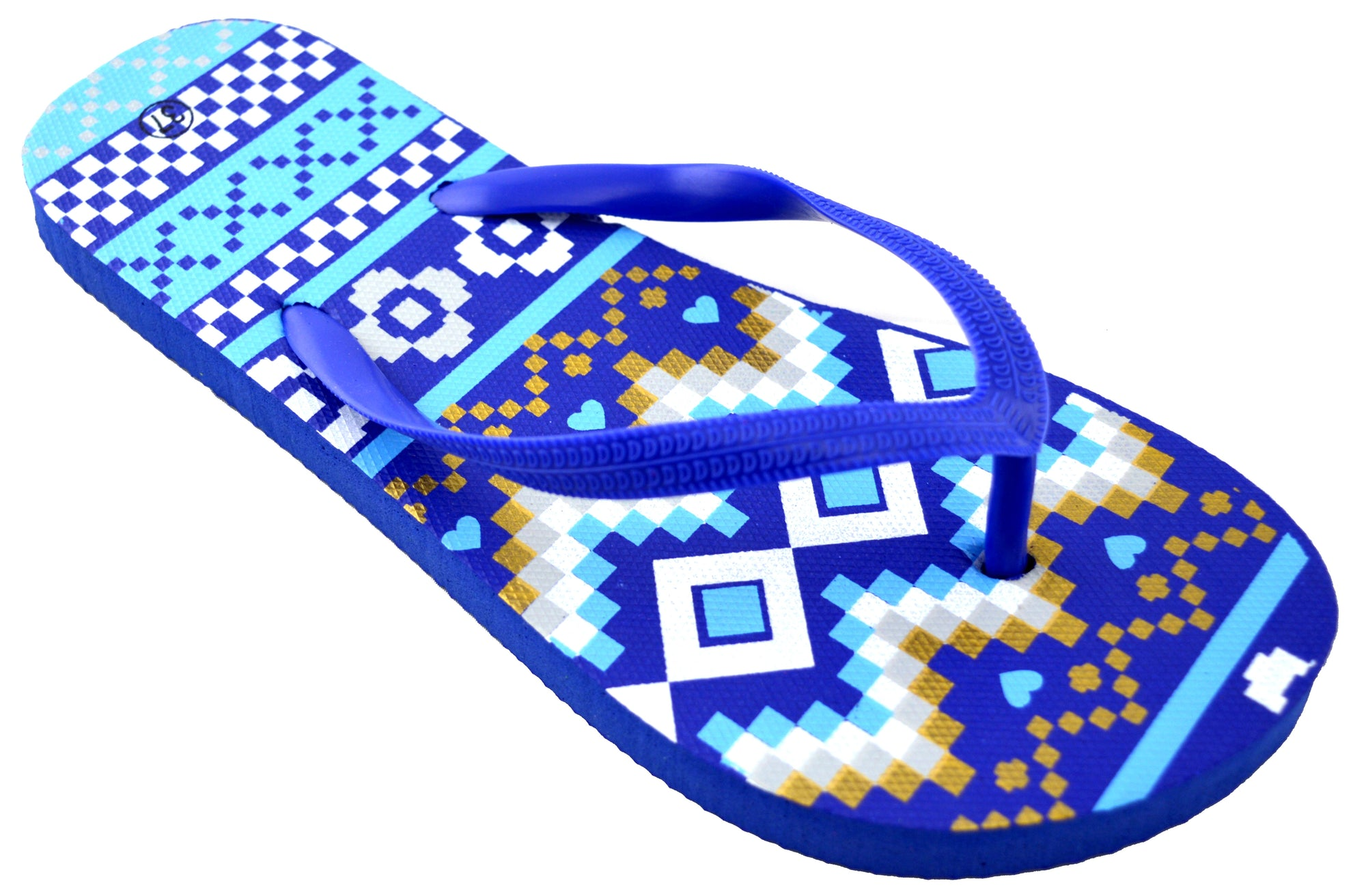 Aztec Waves Design - Blue