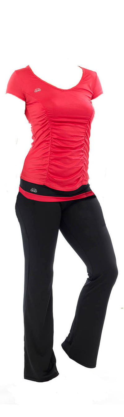 OCTAVE Ladies Fitness Cropped 3/4 Capri Yoga Pants - Gym / Jogging / Exercise