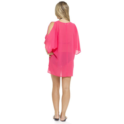 Pink Bikini Swimsuit Beach Cover Up