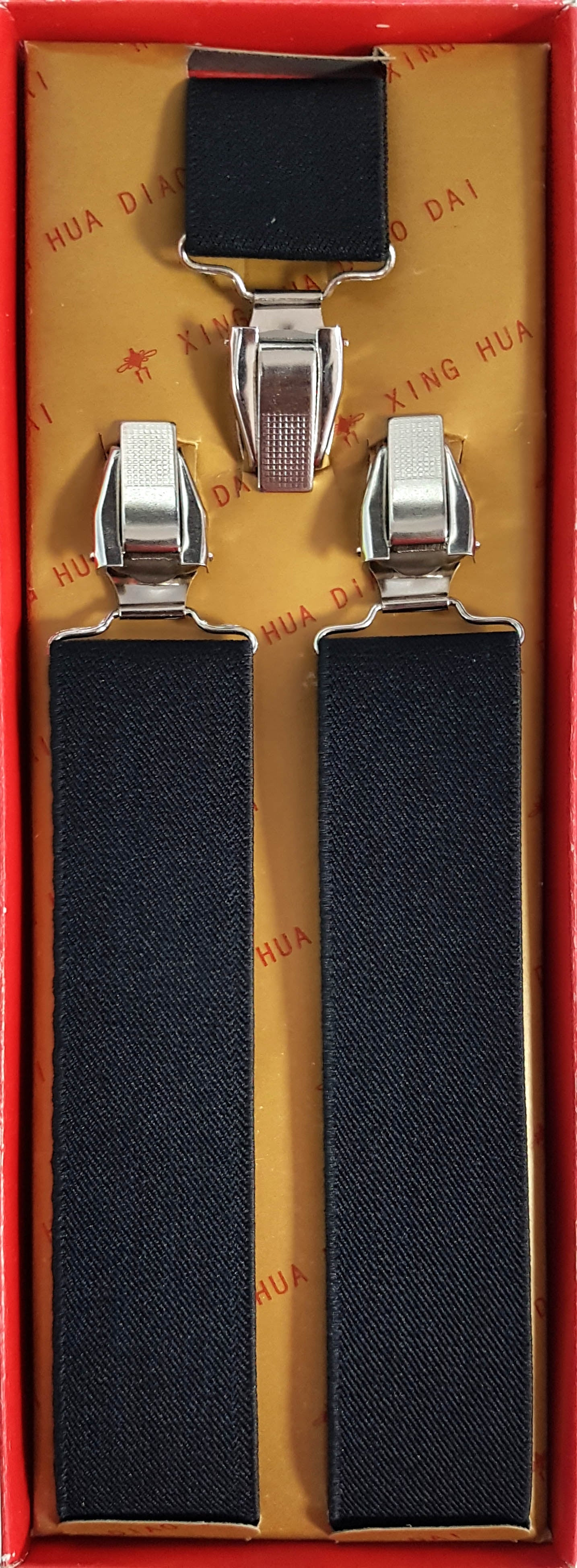 Octave Mens Trouser Braces - Suspenders Strong Heavy Duty with Adjustable Y Shaped Clips