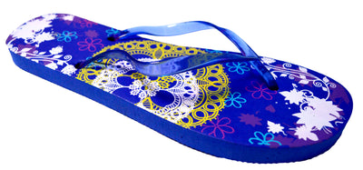 OCTAVE Ladies Summer Beach Wear Flip Flops - Lace Design