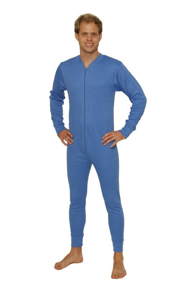 Thermal Underwear All-In-One Union Suit blue