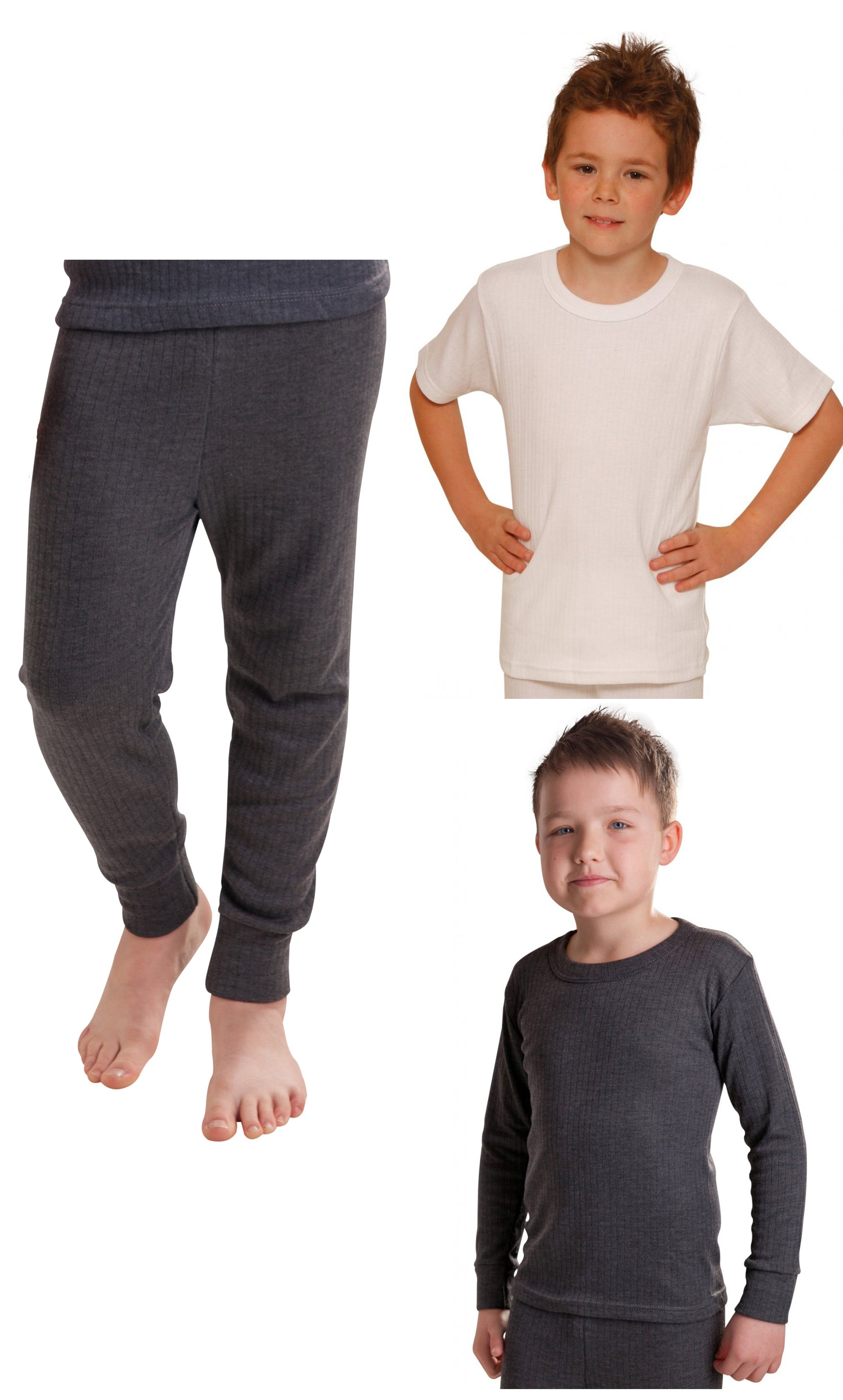 5 Pack *FACTORY SECONDS* Boys Thermal Underwear Assorted Surprise!
