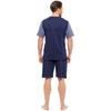 Navy With Denim Blue Sleeves & Navy Shorts - Back