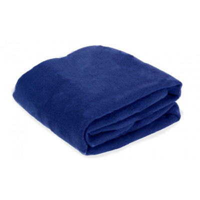 Navy travel blanket