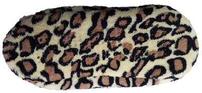 Octave Womens Soft and Cosy Sherpa Animal Printed Ballerina Slipper Socks-Cheetah